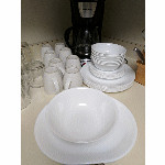 SOLD 3 Corelle Winter Frost 4-piece place setting for 4 - $20 per set