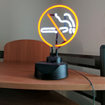 small 'no smoking' light-up sign  - $10